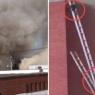 მეხანძრეები ქურდ ენოტებს ცეცხლმოკიდებული შენობიდან გაქცევაში დაეხმარნენ (ემოციური ვიდეო)
