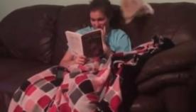გოგონამ საზოგადოებას აჩვენა, თუ როგორია ცხოვრება მელიასთან ერთად (სახალისო ვიდეო)