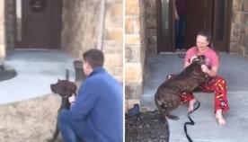 გოგონა ცრემლებს ვერ იკავებდა, როდესაც მას ძაღლი აჩუქეს (ემოციური ვიდეო)