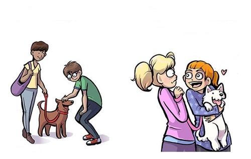"""6 განსხვავება ძაღლების მოყვარულსა და ძაღლის """"მშობელს"""" შორის"""