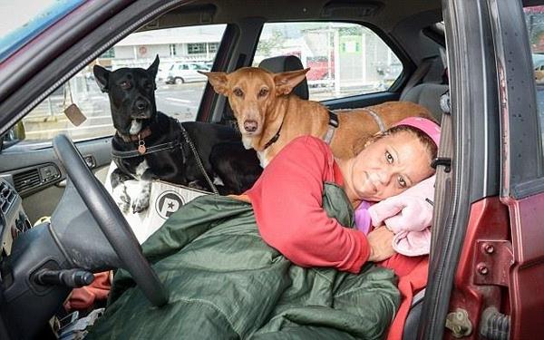 მასწავლებელი, რომელმაც ძაღლები არ დათმო, ცივ ზამთარში მანქანაში ცხოვრობდა