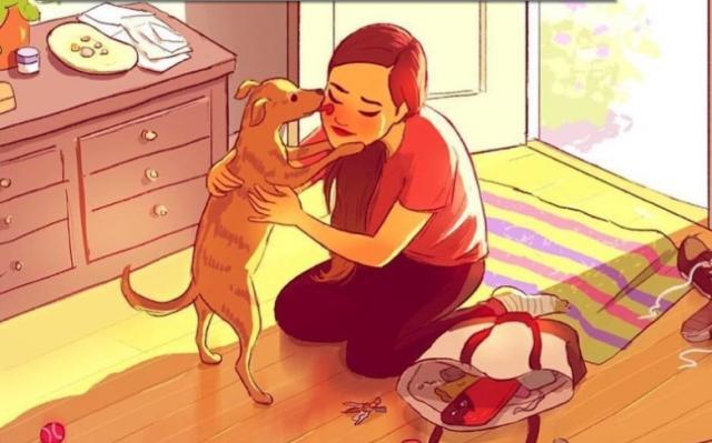 თუ გყავს ძაღლი, მარტოობის არასოდეს შეგეშინდება! ეს ილუსტრაციებიც ამის დასტურია