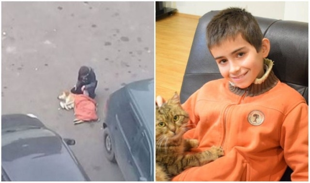 ვინ არის ბავშვი, რომელმაც მიუსაფარი ძაღლი თავისი ქურთუკით გაათბო