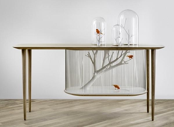 Archibird - მაგიდის და ჩიტების გალიის კომბინაცია (+ფოტო)