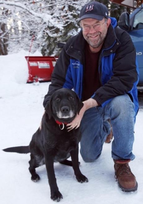 ტყეში დაკარგული უსინათლო ძაღლი 40 გრადუს ყინვას გადაურჩა